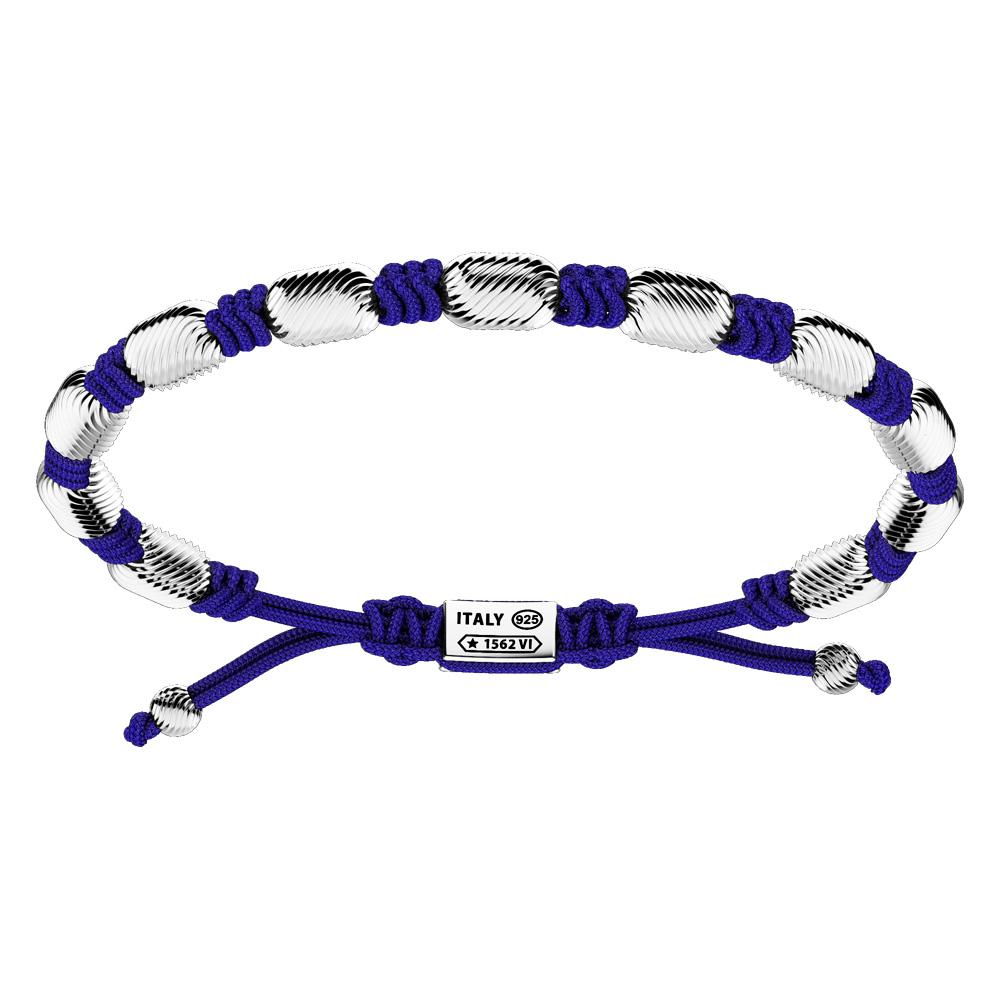 Bracciale Zancan Uomo in argento e corda nautica Infinity EXB836-BL