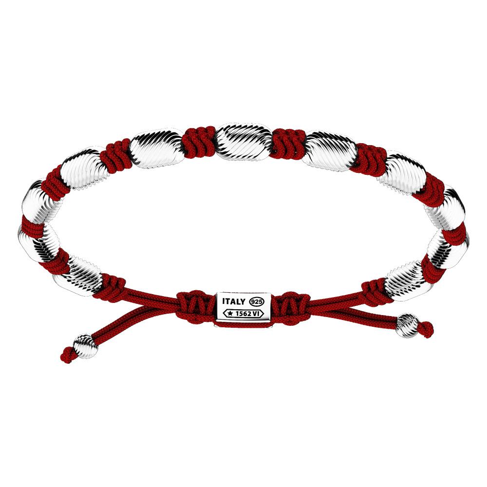 Bracciale Zancan Uomo in argento e corda nautica Infinity EXB836-RB
