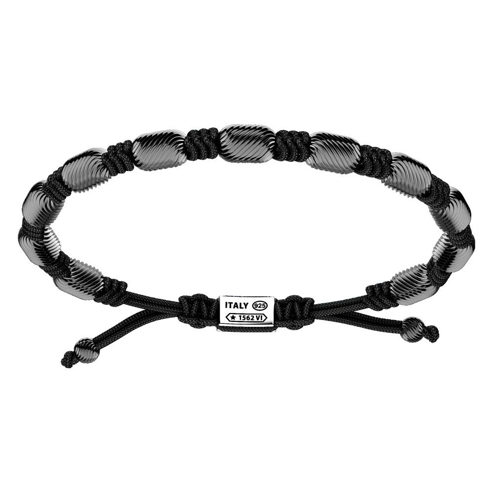 Bracciale Zancan Uomo in argento e corda nautica Infinity EXB837-NE