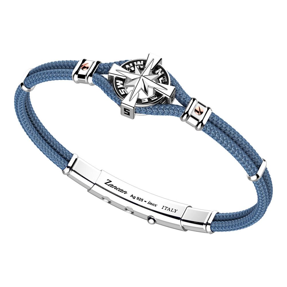 Bracciale Zancan Uomo in argento e corda nautica Regata Kompass EXB862R-AV