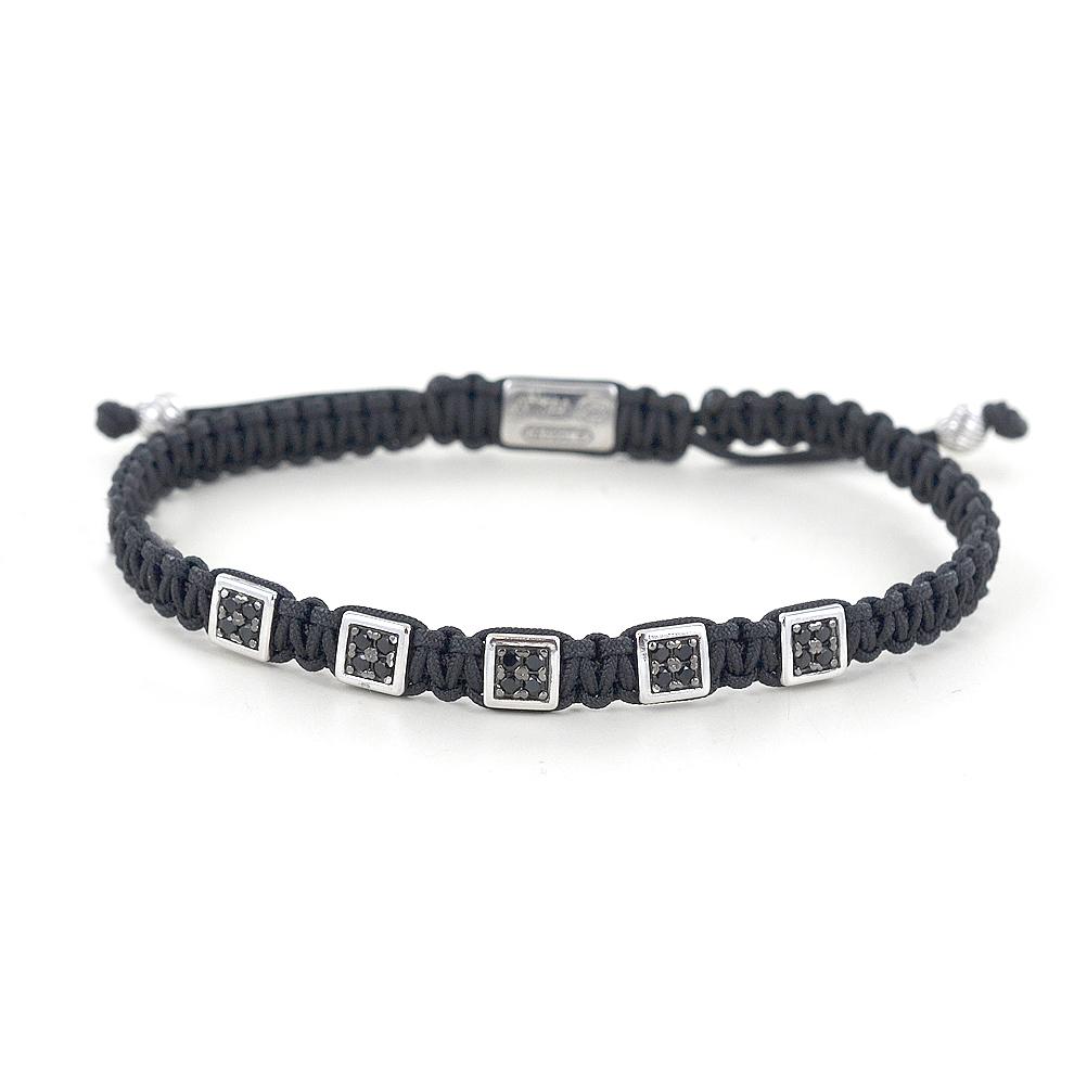 Bracciale Zancan Uomo in corda nautica e argento Infinity EXB850-NE