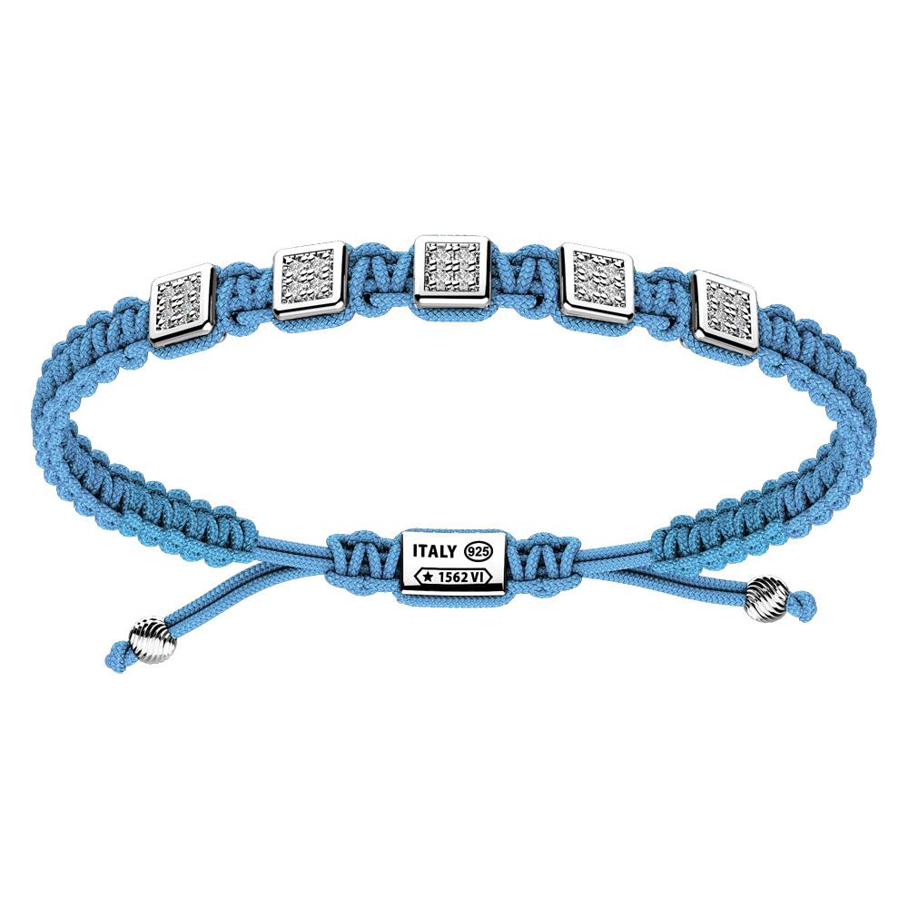 Bracciale Zancan Uomo in corda nautica e argento Infinity EXB853-CE