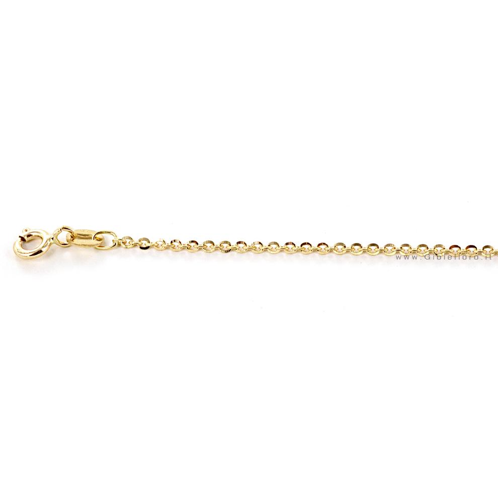 Catena da Donna a maglia diamantata 42 cm in oro giallo