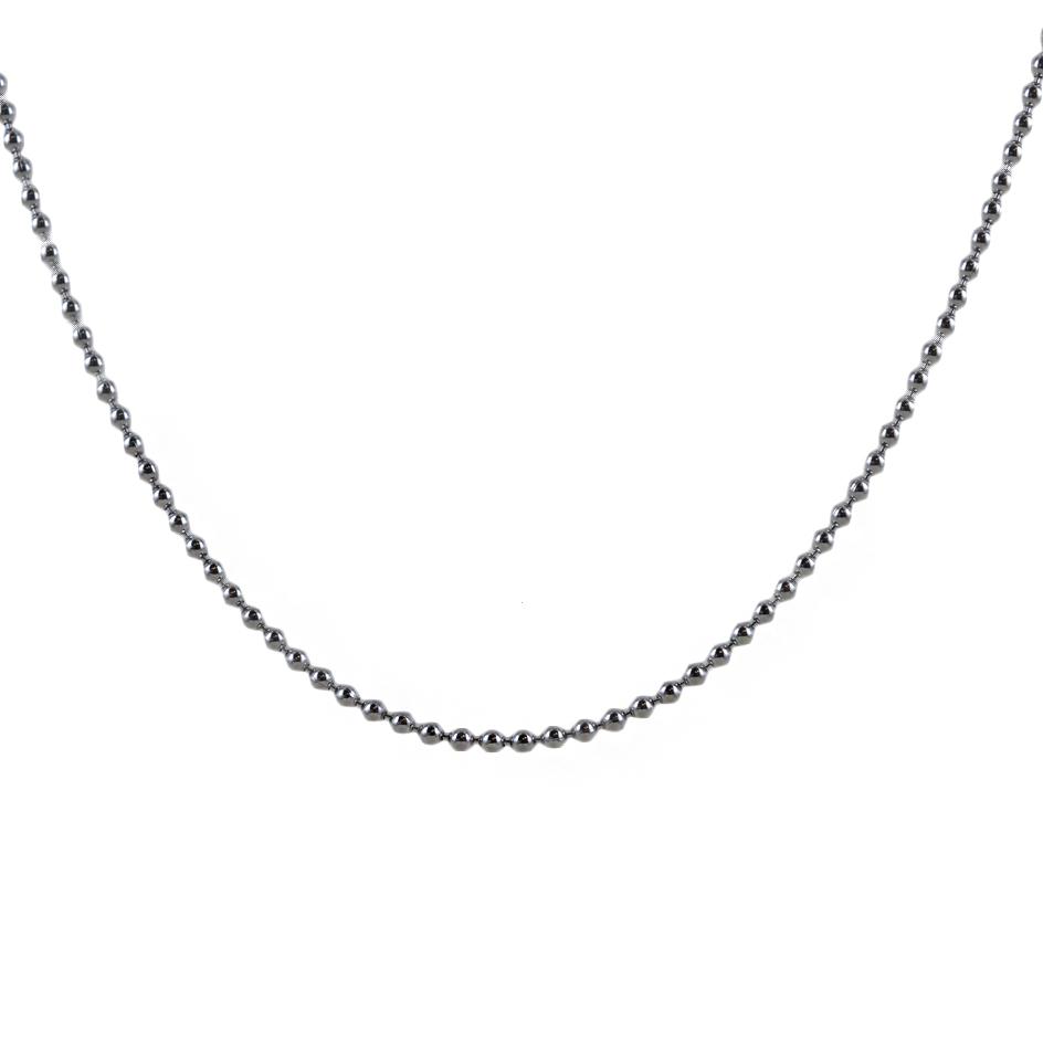 Catena a pallini in argento 48 cm catena sciacquone