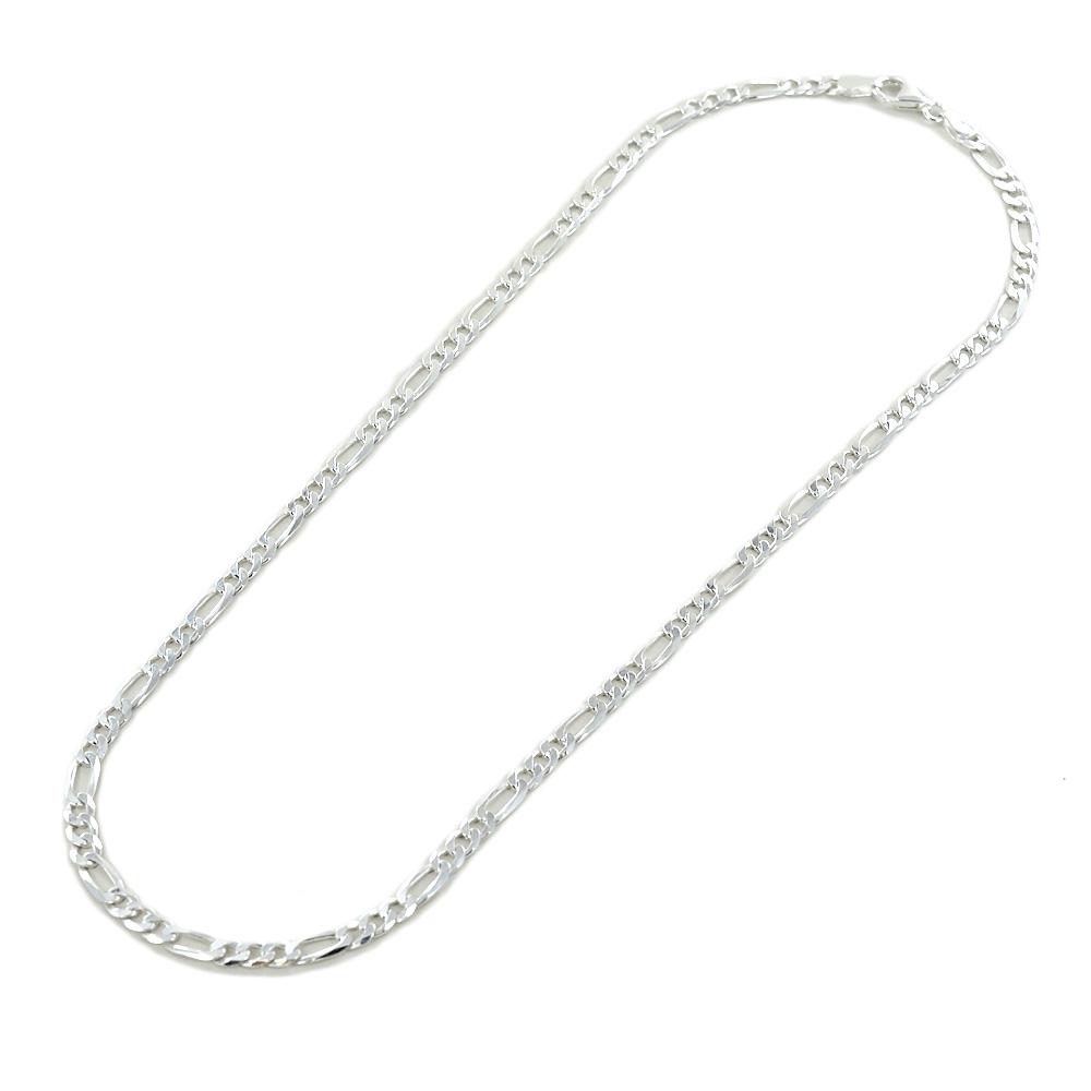 Catena da uomo in argento 50 cm maglia groumette alternata