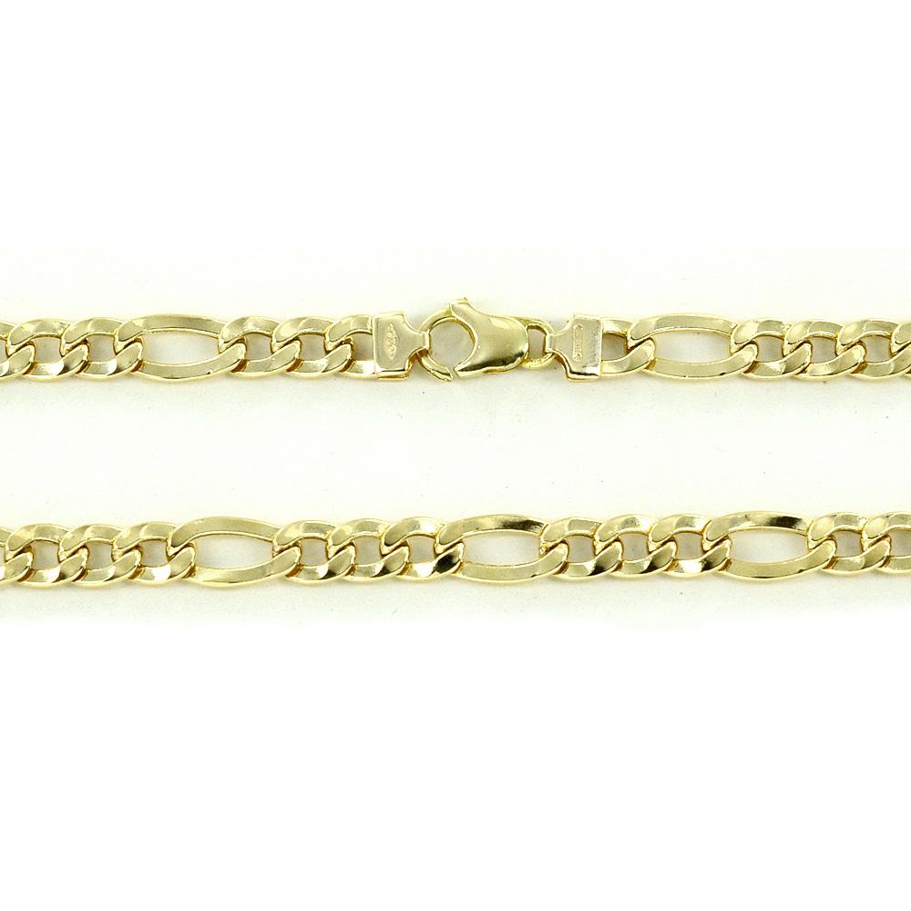 Catena girocollo da uomo in oro giallo groumette 50 cm