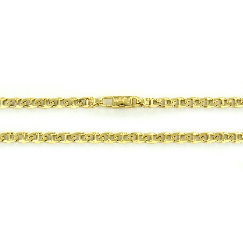 Catena grande da uomo in oro giallo 18 kt traversino - 50 cm