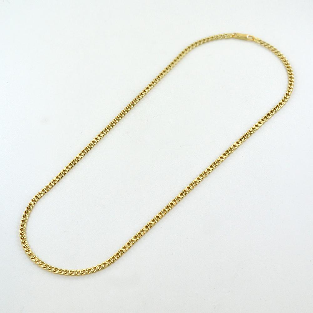 Catena Groumette in oro giallo 18 kt - 48 cm