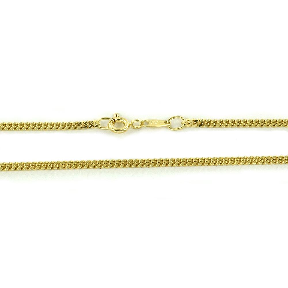 Catena da Uomo in oro giallo 18 kt maglia groumette - 48 cm
