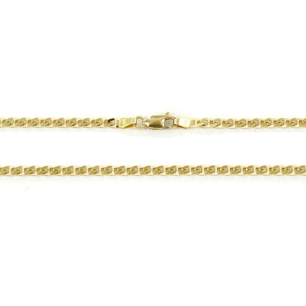 Catena da Uomo in oro giallo 18 kt maglia traversino - 50 cm
