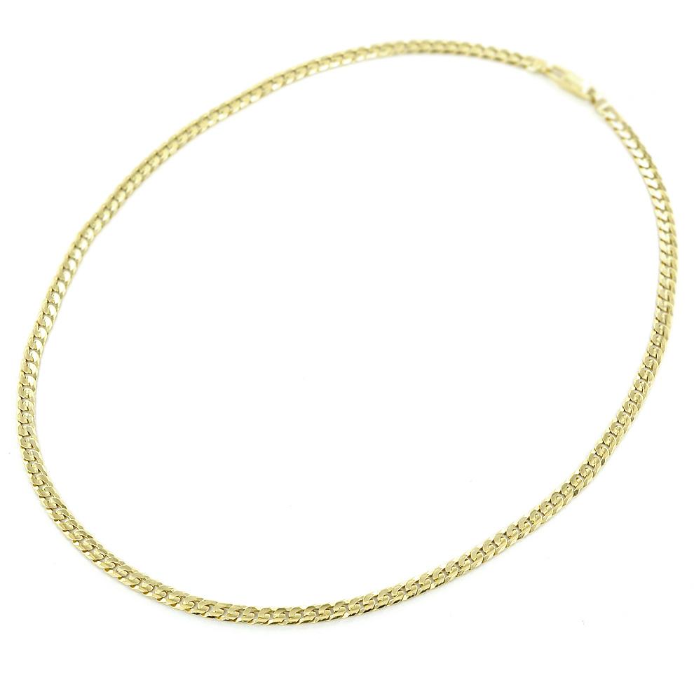Catena in Oro giallo 18kt maglia groumette 50cm