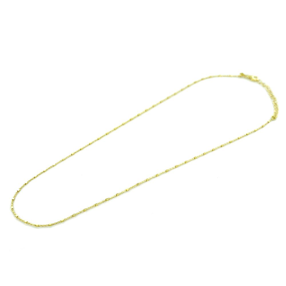 Catena da Donna maglia fantasia a cubi in argento dorato 44 -50 cm