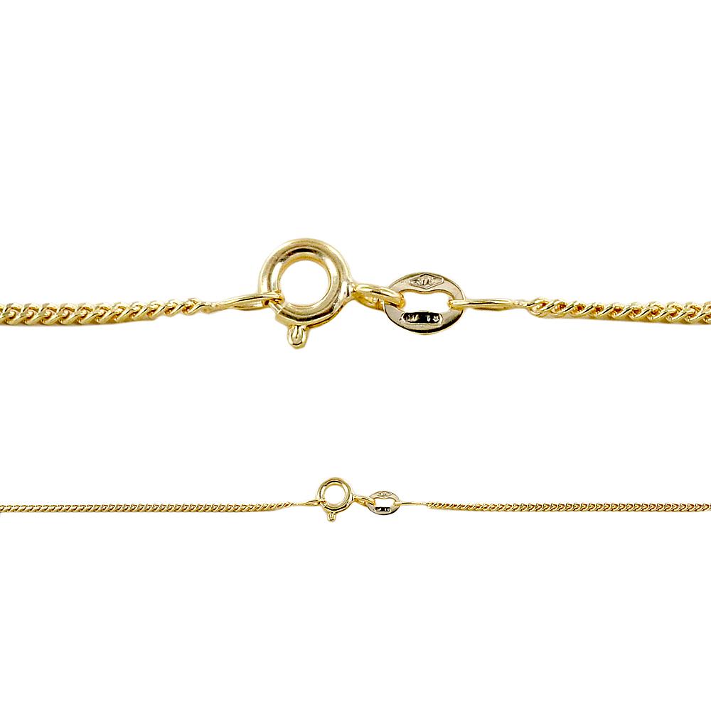 Catena Unisex in oro giallo 9 kt maglia groumette lunghezza 50 cm