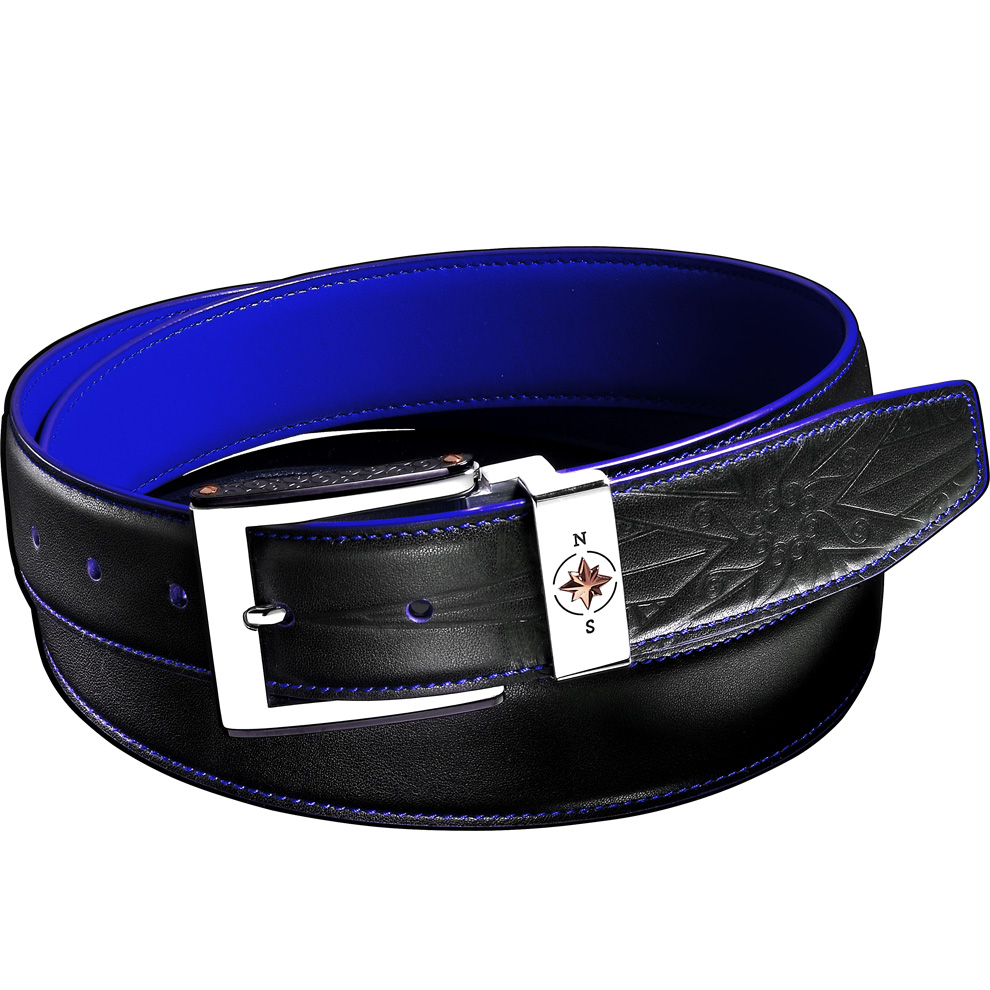 Cintura in pelle marrone da uomo Zancan - chiusura in acciaio HPL 034