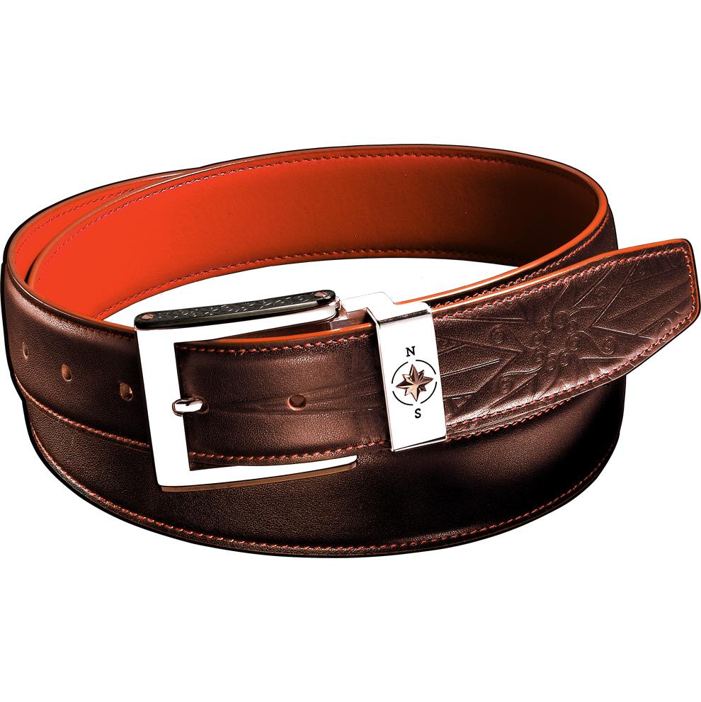 Cintura in pelle marrone da uomo Zancan - chiusura in acciaio HPL 036