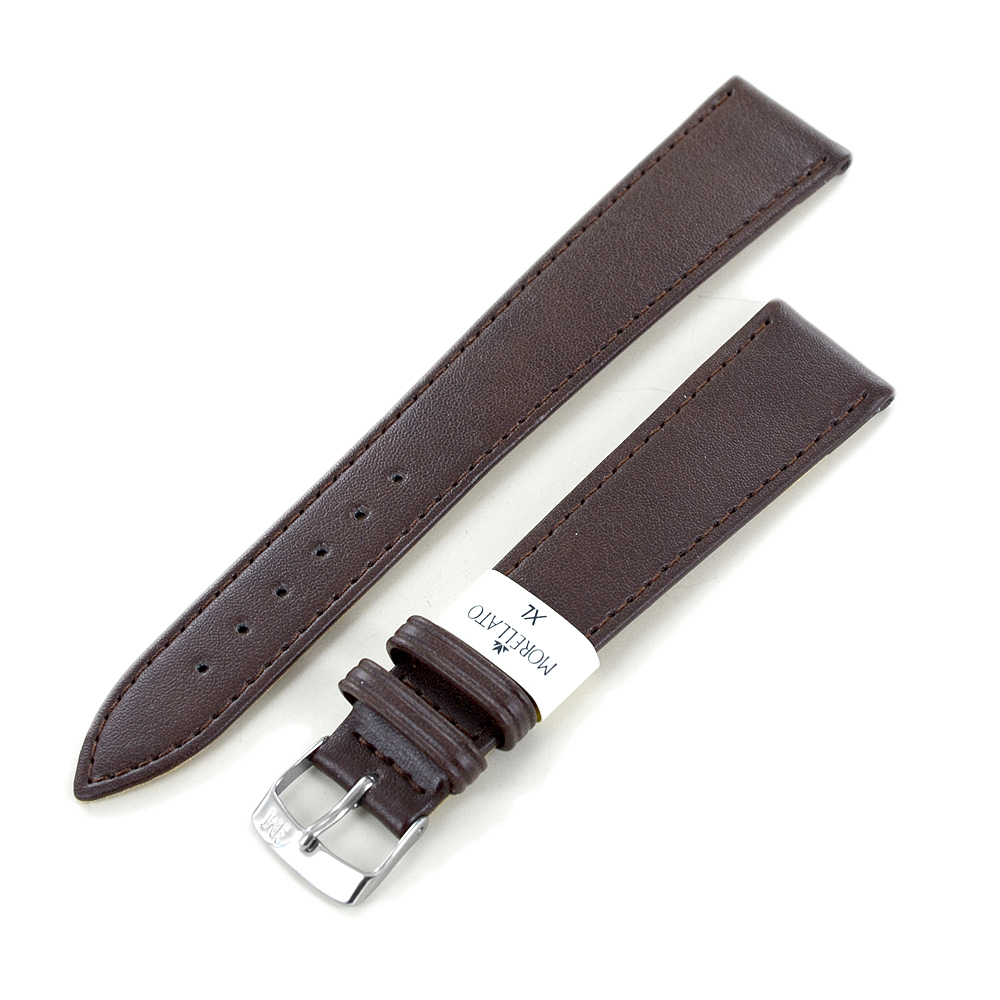 Cinturino extralungo grana Mexico Cuoio marrone ansa 18 mm XL