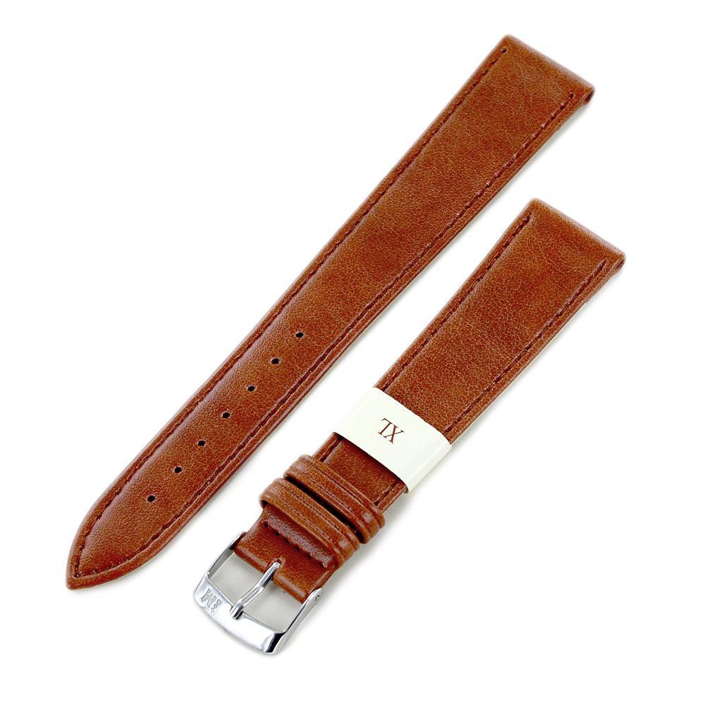 Cinturino extralungo grana Mexico Gold marrone ansa 18 mm XL