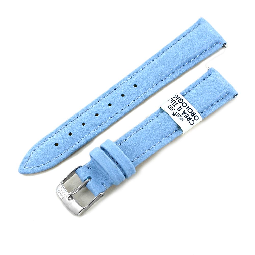 Cinturino ricambio orologio da donna Azzurro Eco Pelle 16 mm