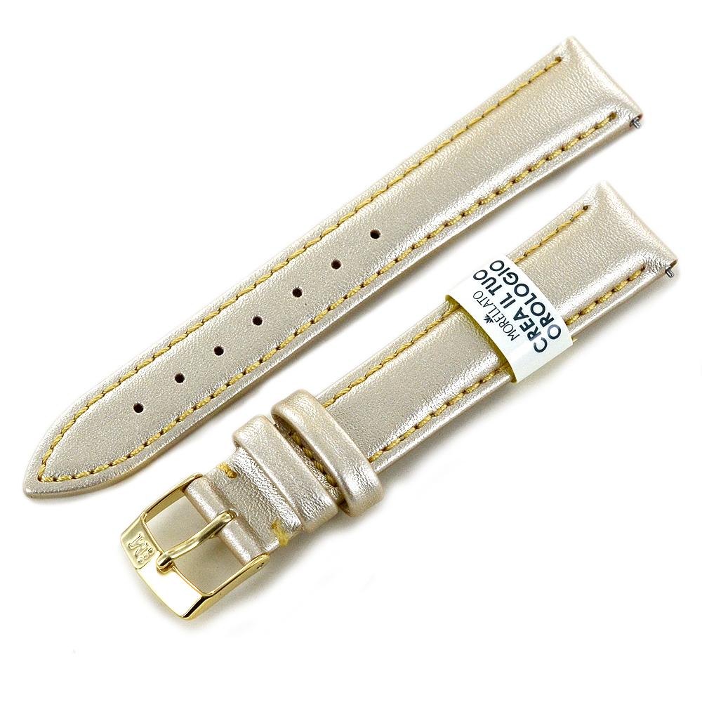 Cinturino ricambio orologio da donna Oro Eco Pelle 16 mm