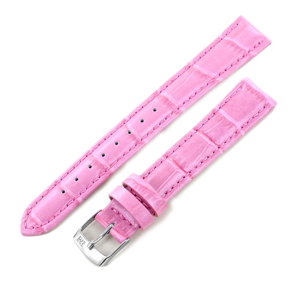 Cinturino ricambio orologio da donna rosa vera pelle Coccodrillo 16 mm