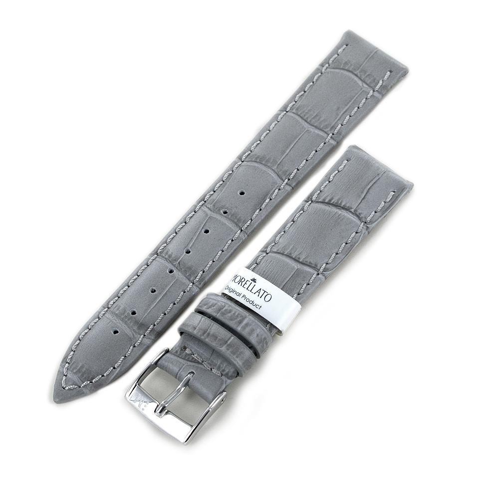 Cinturino stampa Alligatore grigio ansa 22 mm