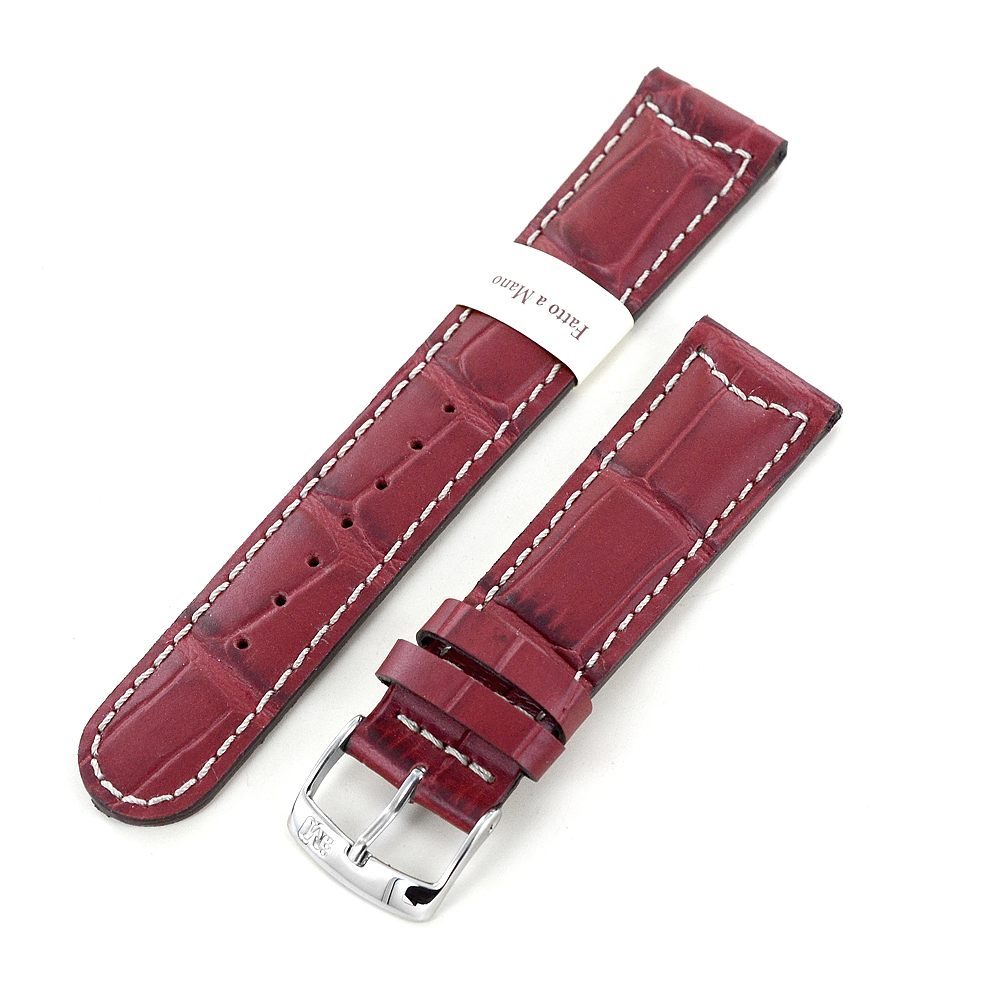 Cinturino stampa Alligatore rosso ansa 20 mm