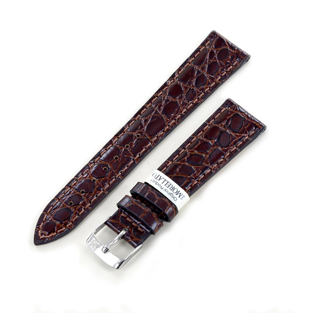 Cinturino stampa Coccodrillo marrone ansa 20 mm