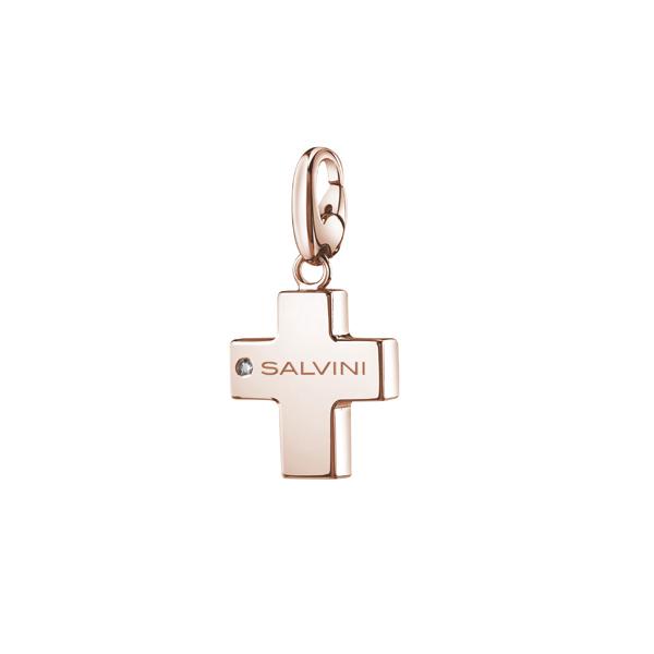 Ciondolo Croce componibile Salvini in argento rosa collezione Charms of Love 20073422