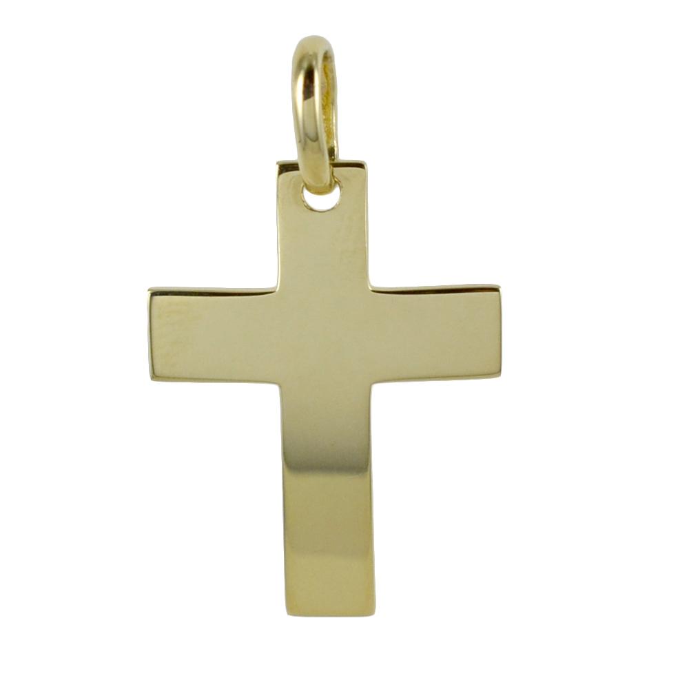 Ciondolo Croce moderna in oro giallo