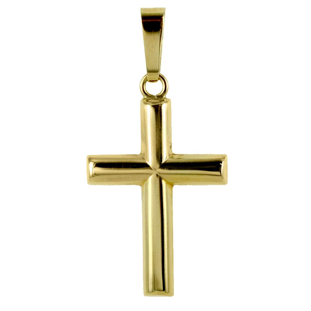 Ciondolo Croce stilizzata grande in oro giallo