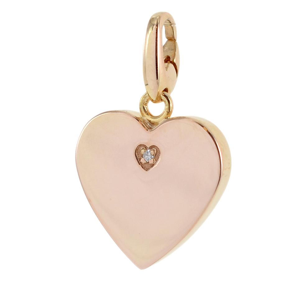 Ciondolo Cuore componibile Salvini in argento rosa collezione Charms of Love 20077086