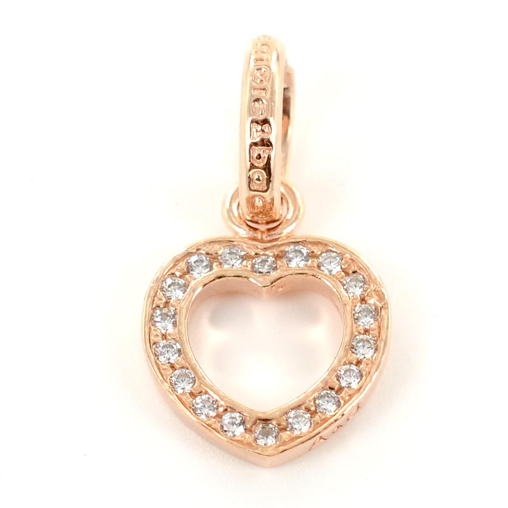Ciondolo cuore in argento rose e Zirconi AmoreeBaci