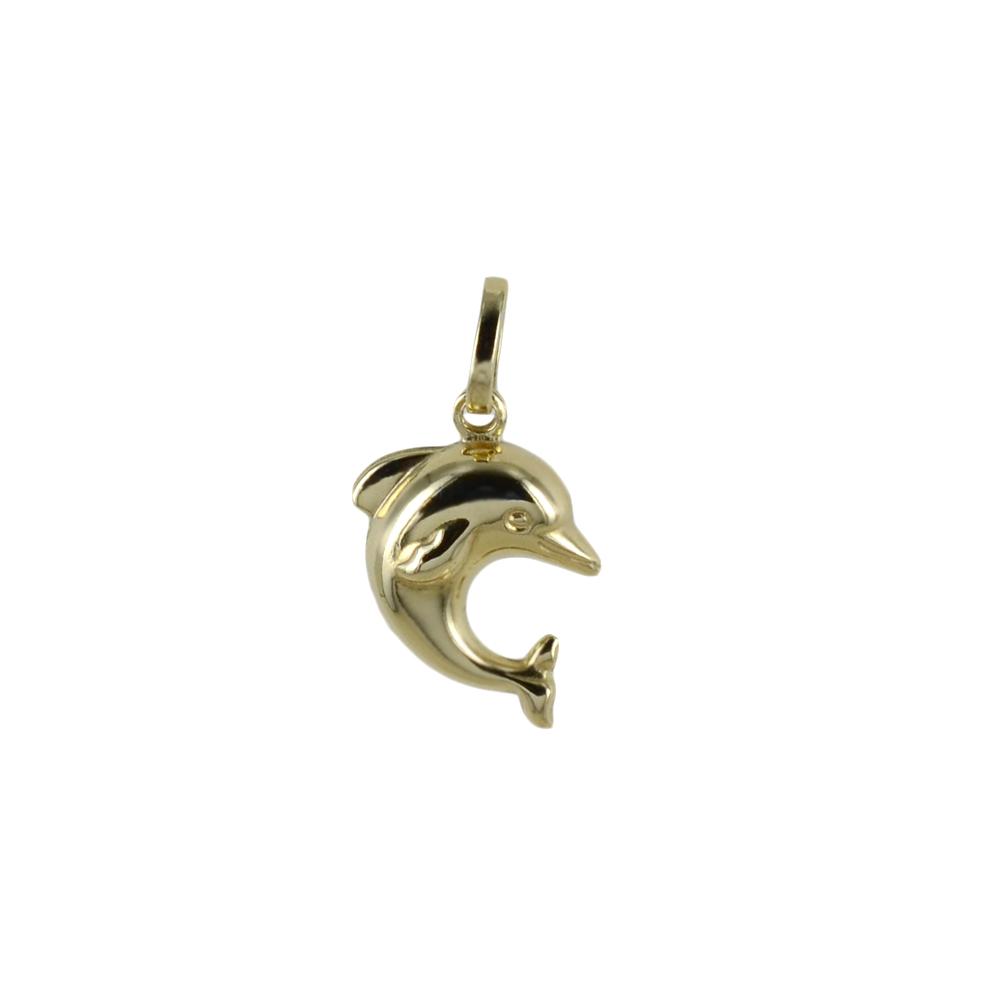 Ciondolo delfino piccolo in oro giallo