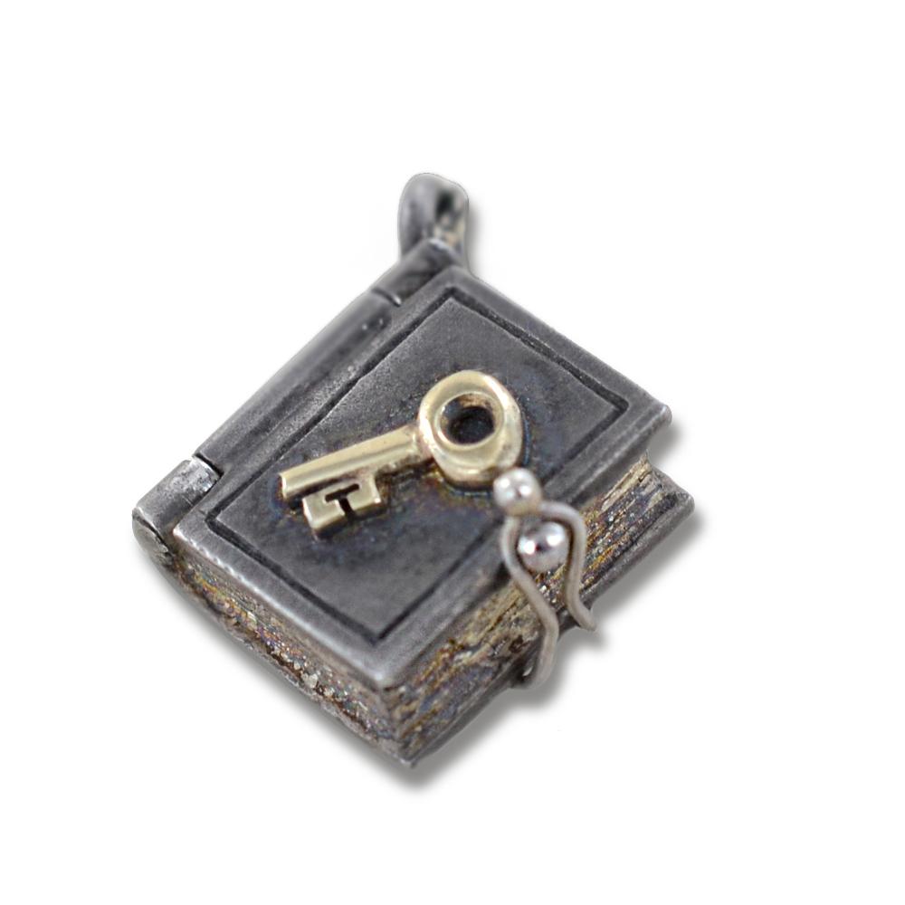 Ciondolo in argento e oro Pulci - Diario dei segreti