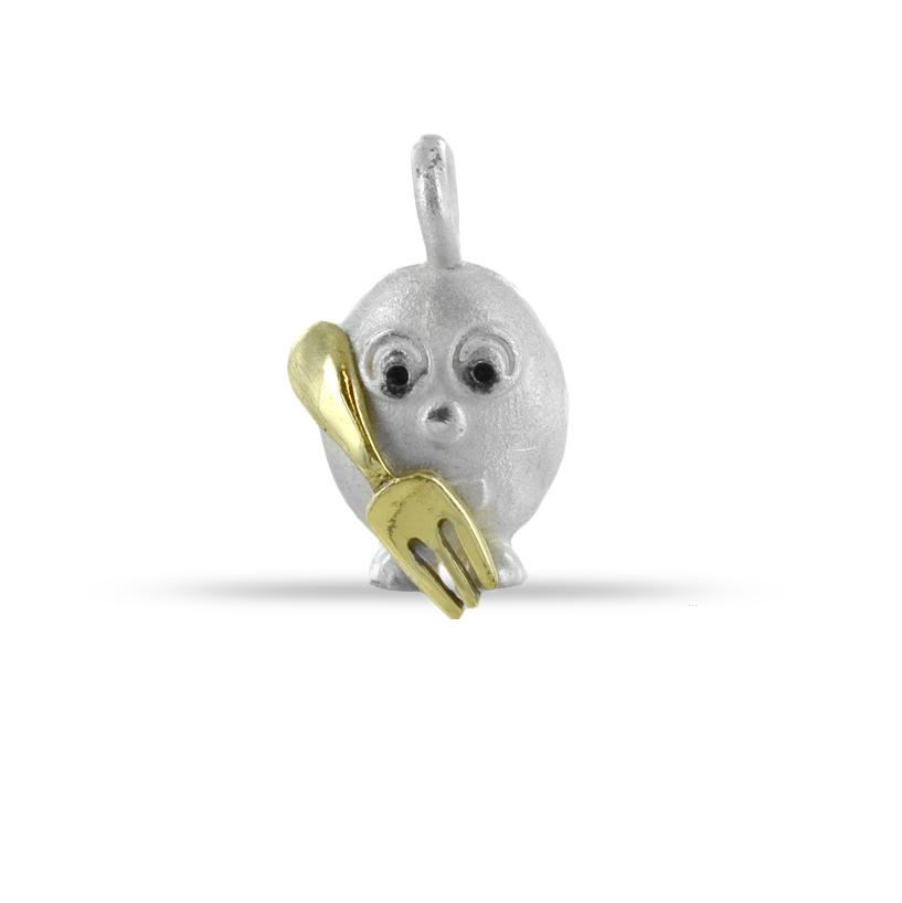 Ciondolo in argento Le Pulci - Pulce Golosona