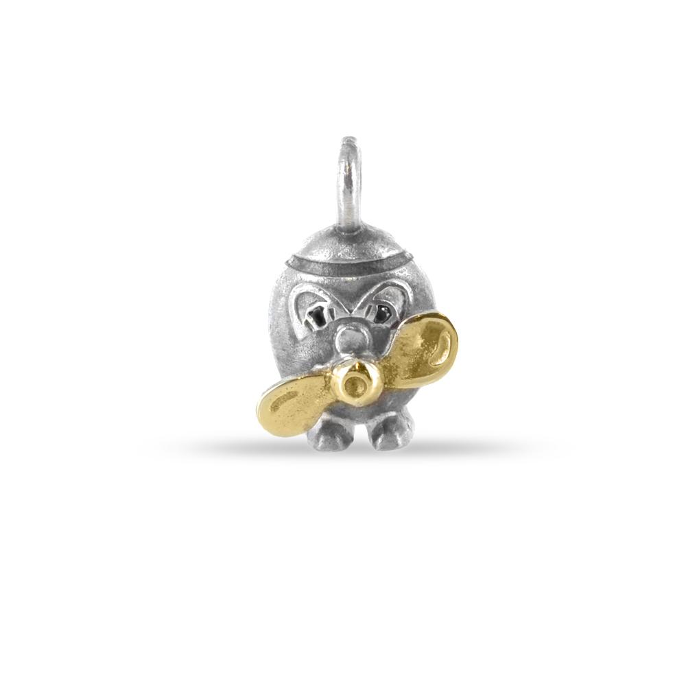 Ciondolo in argento e oro Pulci - Pulce Mi girano