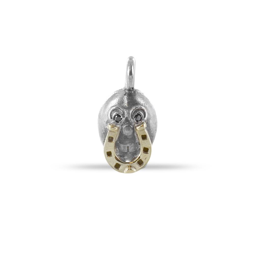 Ciondolo in argento e oro Pulci - Pulce Portabuono