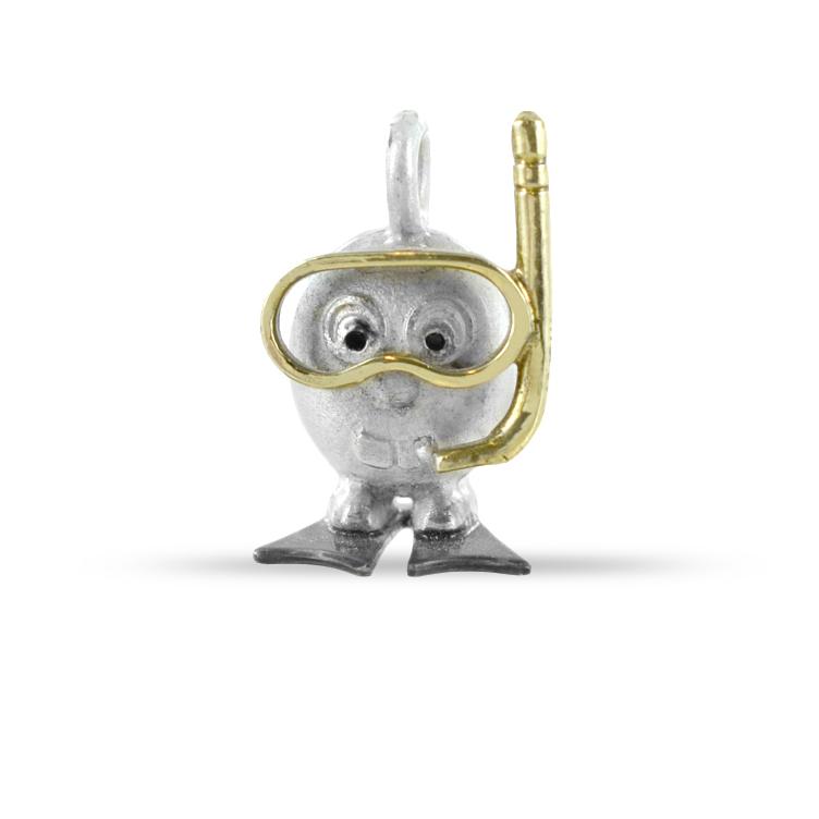 Ciondolo in argento Le Pulci - Pulce Sub