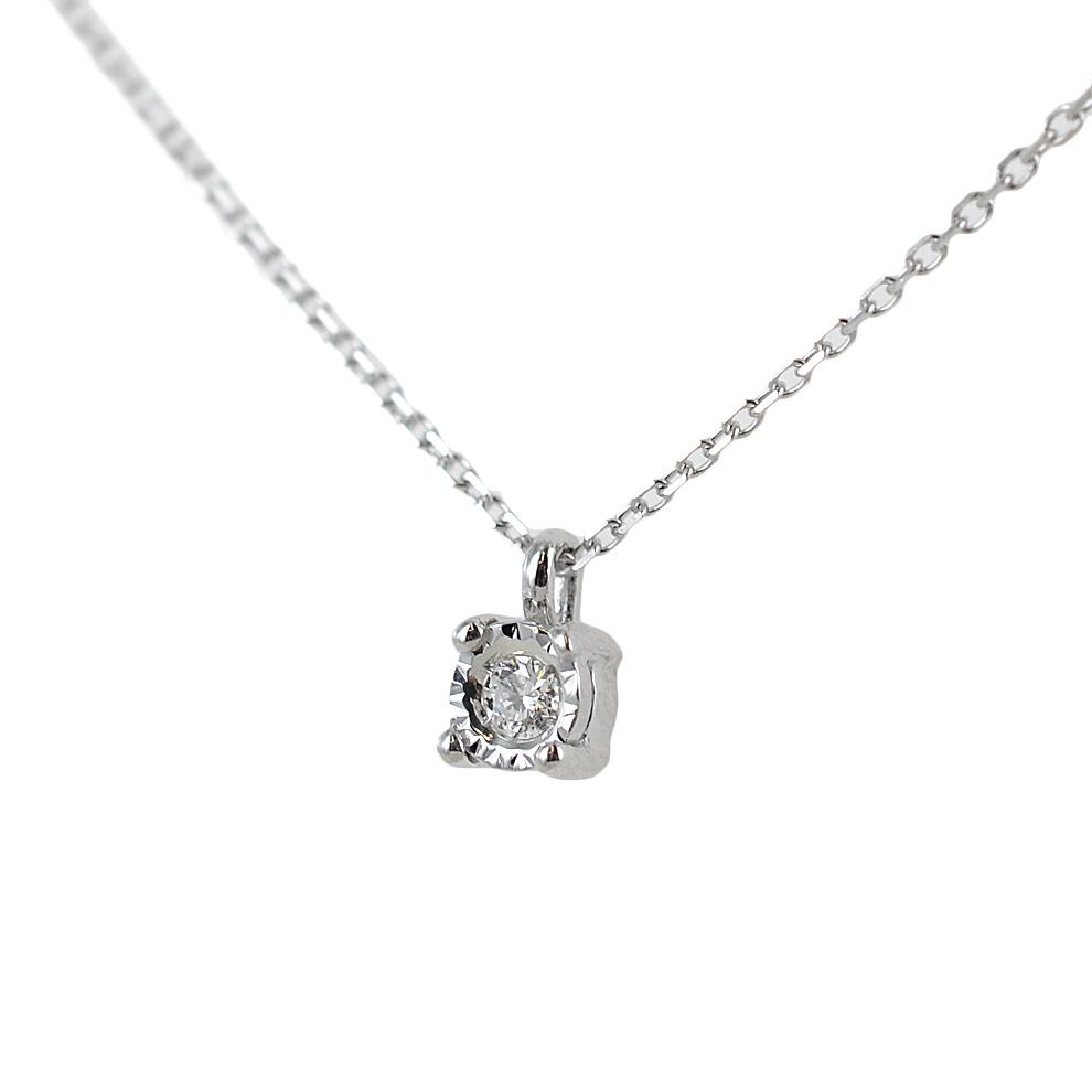 Ciondolo punto luce Piccolo con incastonatura diamantata e diamante ct 0.03