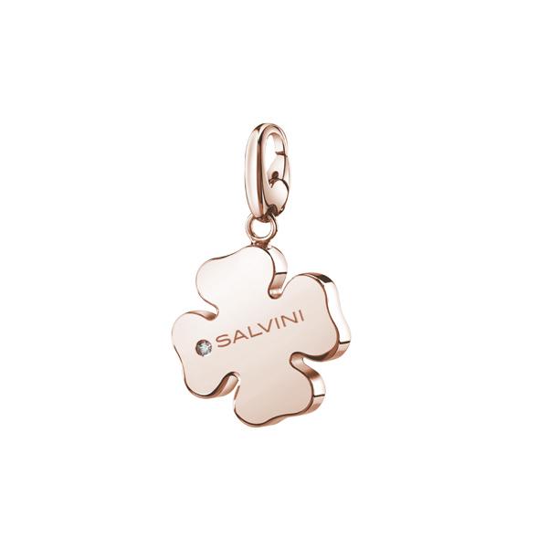 Ciondolo Quadrifoglio componibile Salvini in argento rosa collezione Charms of Love 20073420