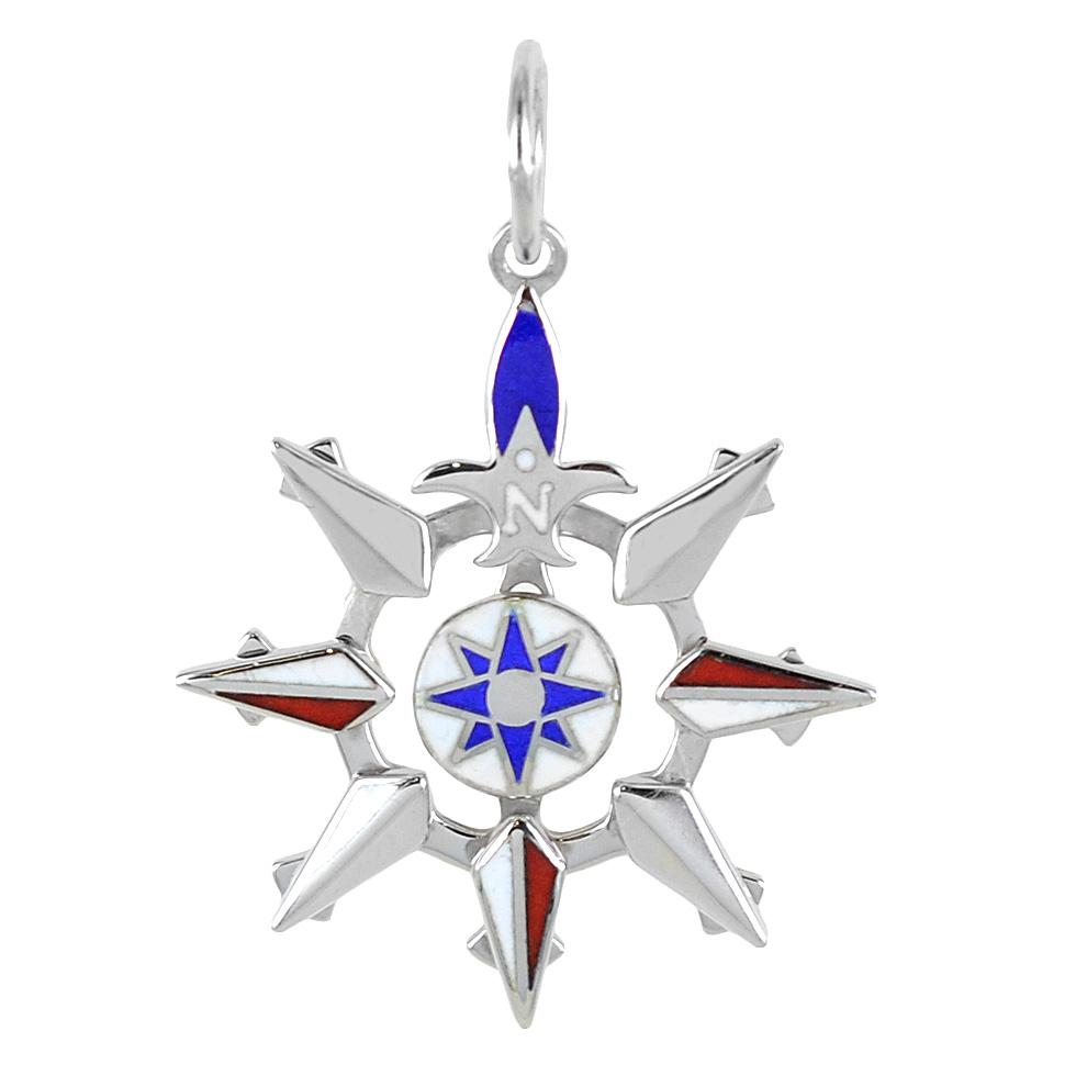 Ciondolo Rosa dei Venti da uomo Arcadia Gioielli in argento