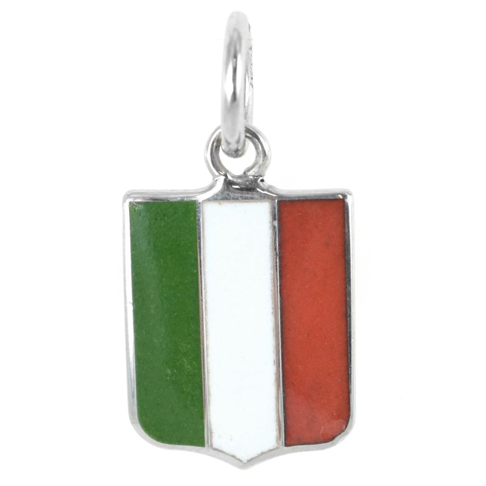Ciondolo Scudetto Italia in argento Arcadia