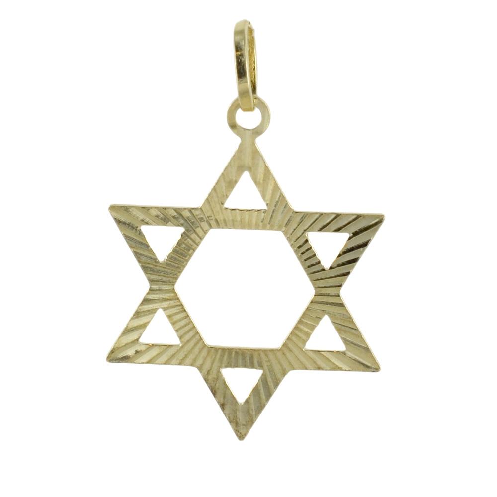 Ciondolo stella di David in oro giallo