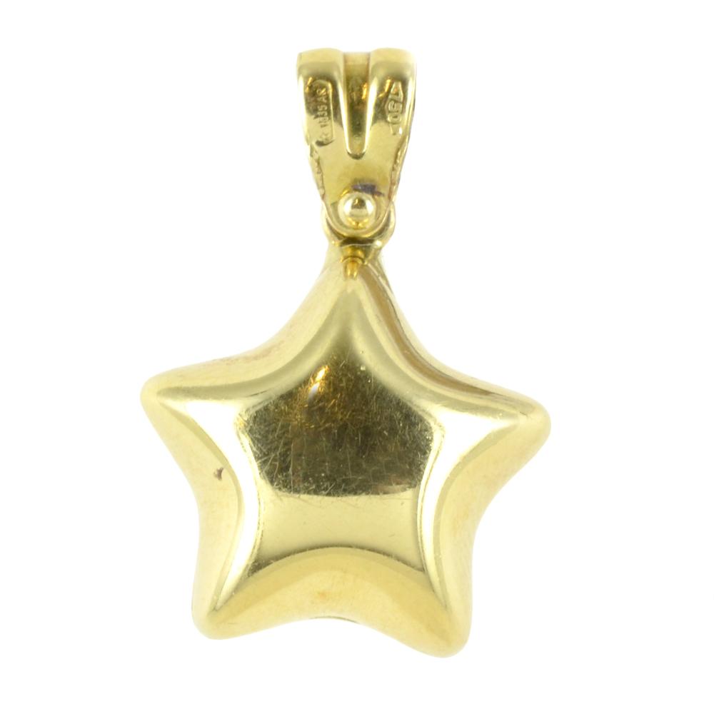 ciondolo Stella Grande Lucido in oro giallo