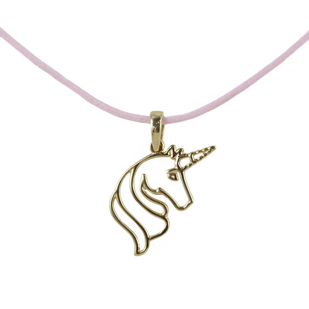Ciondolo Unicorno in oro giallo