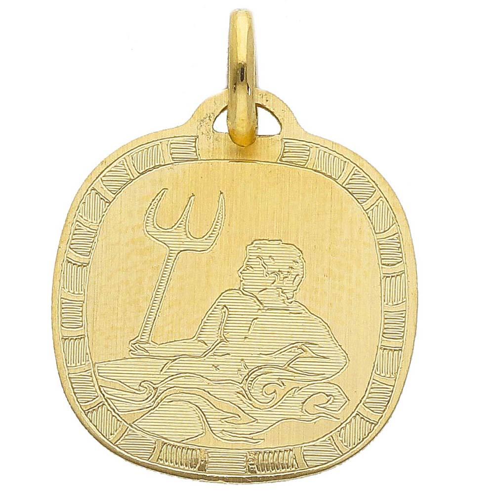 Ciondolo Zodiaco in oro giallo - SEGNO ACQUARIO