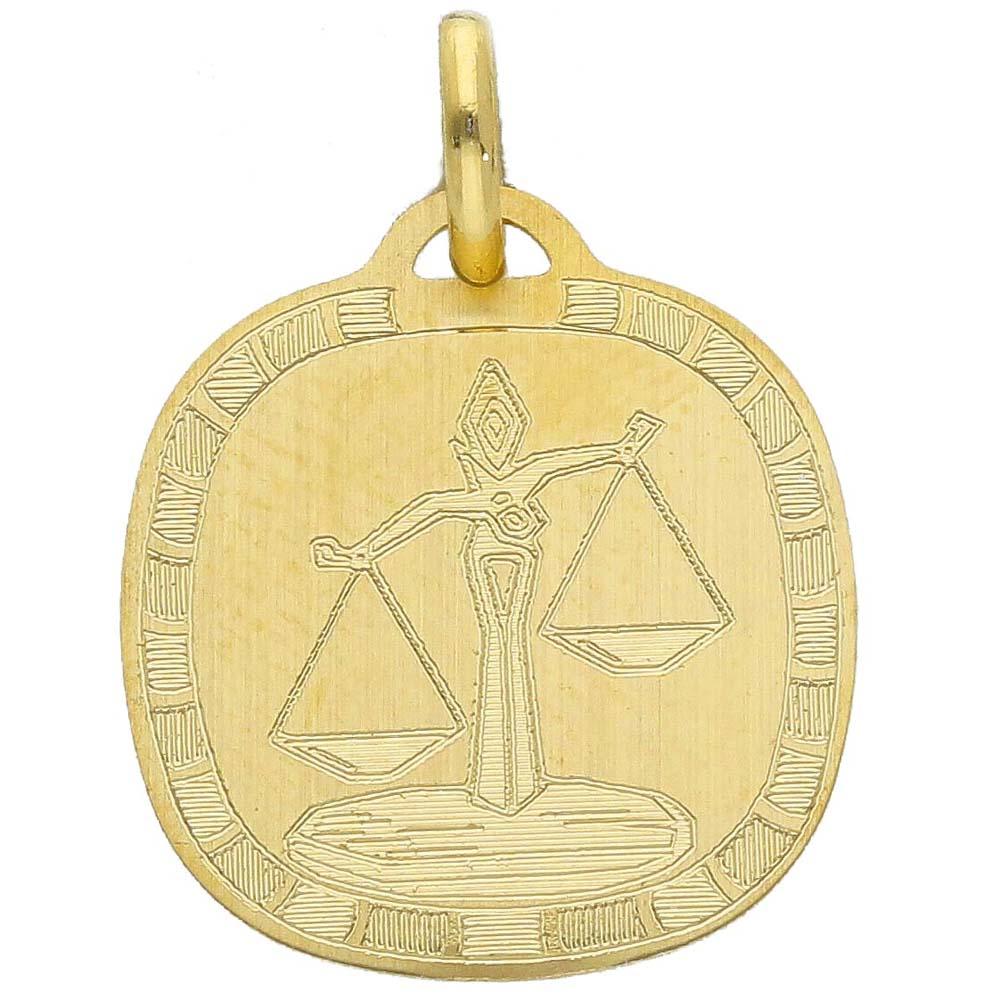 Ciondolo Zodiaco in oro giallo - SEGNO BILANCIA