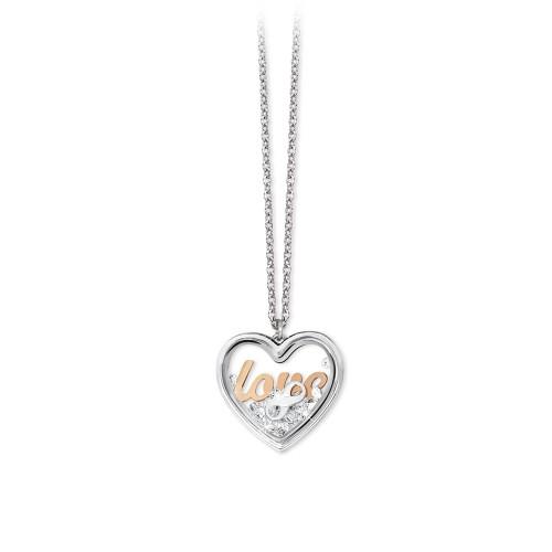 Collana 2Jewels donna Daylight in acciaio con pendente Love 251645