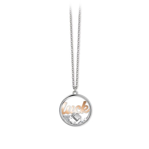 Collana 2Jewels donna Daylight in acciaio con pendente Luck 251644