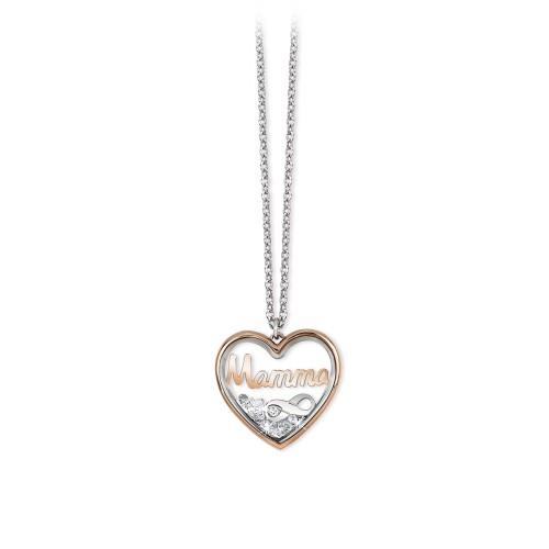 Collana 2Jewels donna Daylight in acciaio con pendente Mamma 251642